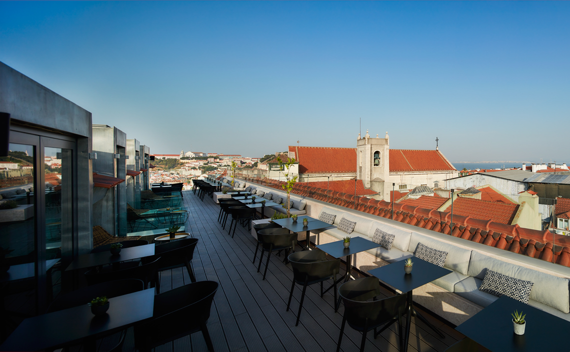 Rooftop Bar with a great View Lisbon
